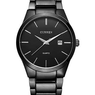 CURREN Men's Watches Classic Black