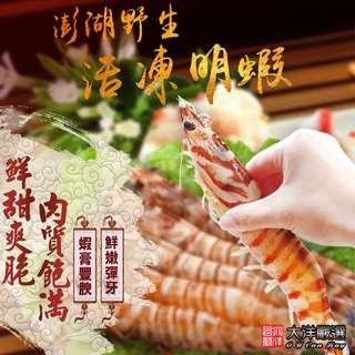 【大洋嚴選】野生活凍明蝦-巨無霸超大明蝦 *1盒組( 510g±10%/盒 )( 6隻/盒)