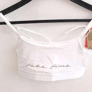 H&M Bralette White x Rose Gold