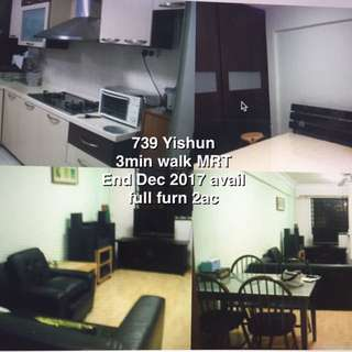 Yishun MRT 2brm HDB whole unit