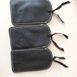 3pcs Genuine Leather Luggage Tags