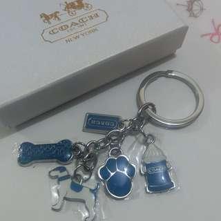 Coach 藍色小狗鎖匙扣