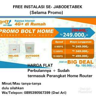 BOLT HOME 4G+ UNLIMITED SEPUASNYA