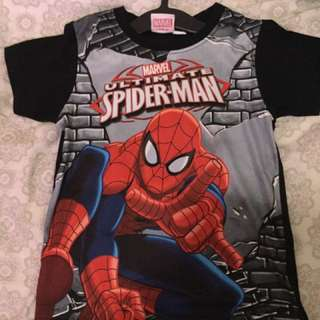 Authentic Marvel Spiderman Shirt for Boys