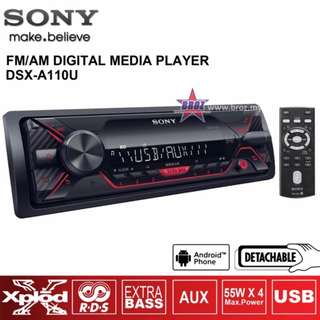 Sony DSX-A110U FM USB Car Digital Media Player