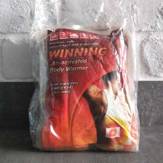 (WITH FREE GIFT) winning air-activated body warmer