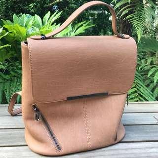 Tan Collete Backpack Handbag