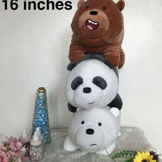 We Bare Bears Plushies