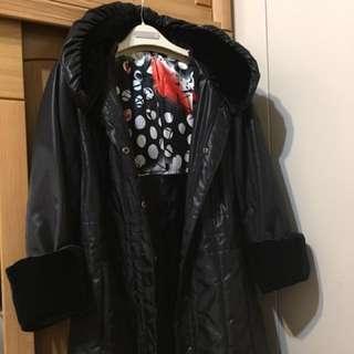 中長型鋪棉外套