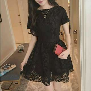 👗韓版蕾絲質感素色洋裝👜#我的女裝可超取#聖誕禮物