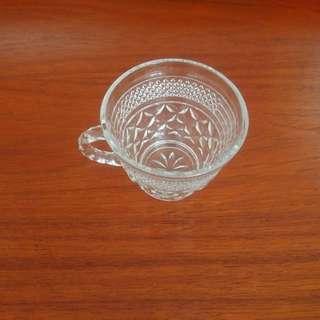 Vintage Punch Set - 12 Crystal Cups, 1 Large Crystal Punch Bowl