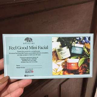 Origins Feel Good Mini Facial
