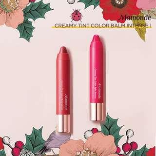 Mamonde Creamy Tint Color Balm Intense 限量版包裝 唇筆 玫瑰 絲絨 5 11 韓國彩妝 霧面 Flowers For Me