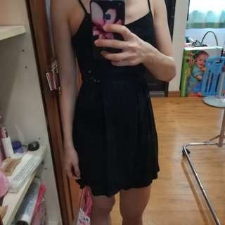 (free) H&M little black dress with lace