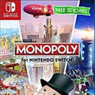 BNIB Monopoly Nintendo Switch