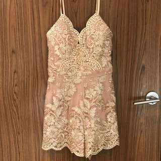 Beige Playsuit