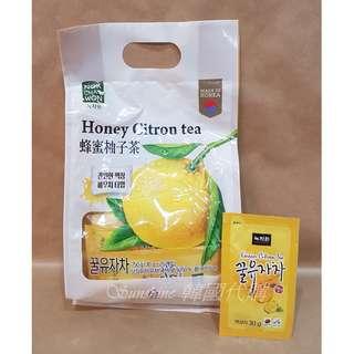 現貨 韓國空運 綠茶園 蜂蜜柚子茶 隨身包 30g  25包