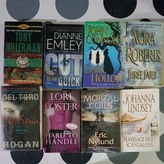 8 assorted novel titles