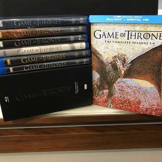 (CHARITY)(27discs) Game of Thrones Season 1-6 Blu-ray