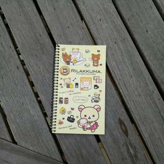 Cute Rilakkuma small and thin notebook