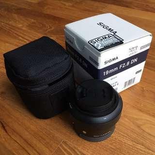 Sigma 19mm F2.8 DN Art Lens For SONY E-MOUNT