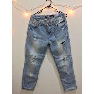 JAYJAYS ripped boyfriend jeans