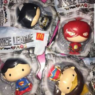 Sealed Justice League Bobbleheads by McDonald's McDo