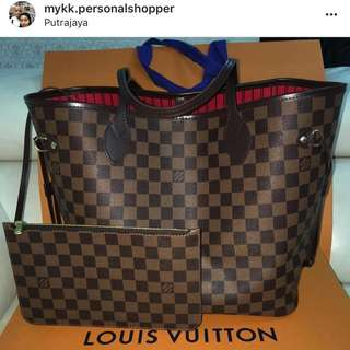 Louis Vuitton Neverfull MM Damier Ebene Canvas