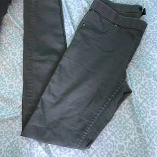 Army green H&M jeggings