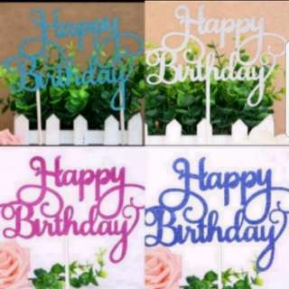(Buy 4 get 1 free) Happy Birthday Cake topper (HB4)