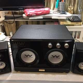 OZAKI WoW重低音2.2雙炮機喇叭 WR690