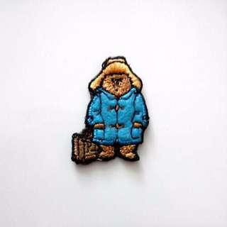 Tiny Paddington Bear Raincoat Sew On Patch