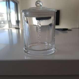 Glasshouse candle jar
