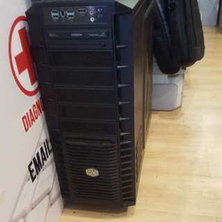 Pre use COOLER MASTER tower cassing (no psu)