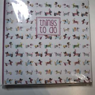 Dog themed notebook / post it