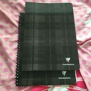 A set of black notebooks