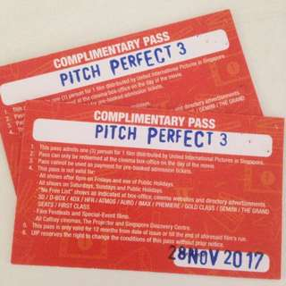 Pitch Perfect 3 Movie Passes