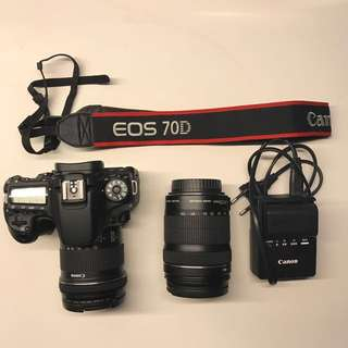 Canon 70D with 10-18mm and 18-135mm