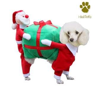 Dog Christmas Wear Puppy Coat Santa Costume