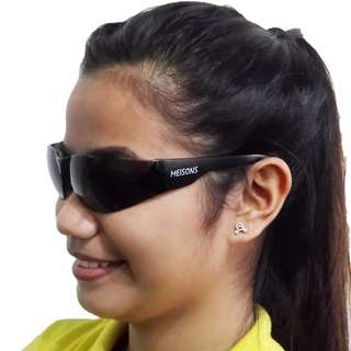 Meisons safety goggles FLEXIBLE COOL BLACK anti fog