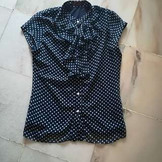 Blue Polka Dots Top