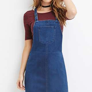 Denim Dungaree Overalls Dress #1212YES