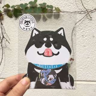 黑犬貼紙包