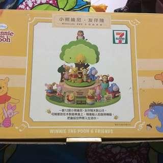 7-11 Winnie the pooh 小熊維尼音樂盒