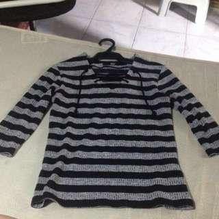 Mossimo 3/4 Stripe Black