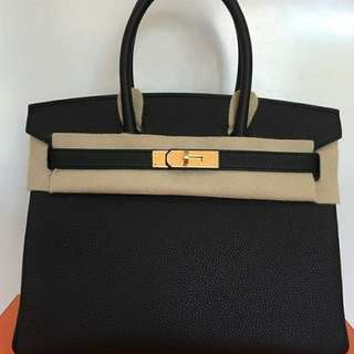 Authentic Hermes Birkin 30 Black Store Fresh