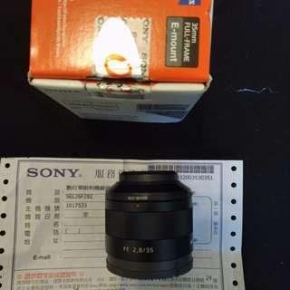 SONY FE 35mm F2.8 ZA (公)