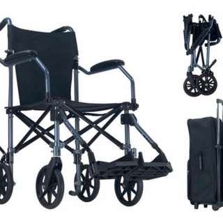 Foldable Portable Wheelchair with Bag