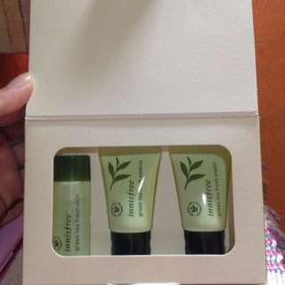Innisfree green tea kit