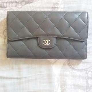 Chanel 淨銀包一個,8成新,有貼